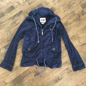 AMI utility jacket in navy
